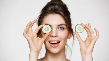 göz altı morlukları ve kırışıklıkları için salata kullanımı