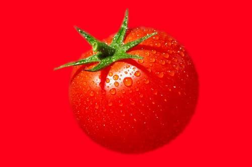 koyu halkalar için patates ve domates karışımı