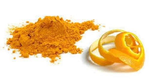cilt gençleştirmek için portakal kabuğu tozu ile maske yapımı