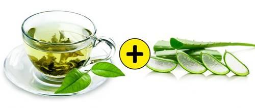 siyah noktaları gidermek için aloe vera ve yeşil çay kullanarak maske yapımı